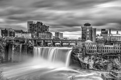 Black and white of High Falls Stock Photography