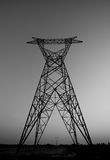 Black and white high voltage electric pillar no cable Stock Photography