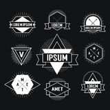 Black and white Hipster logo. Royalty Free Stock Images