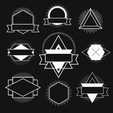 Black and white Hipster logo. Royalty Free Stock Photos
