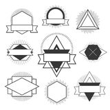 Black and white Hipster logo. Vector isolated illustration isolated on white Stock Image