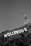 Black and white Hollywood sign Royalty Free Stock Photos