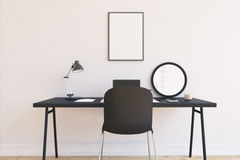 Black and white home office Stock Photography