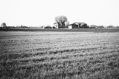 Black and white homestead in Italy Royalty Free Stock Photography