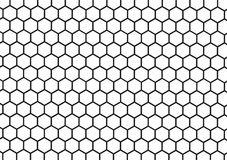 black and white honeycomb abstract geometric Royalty Free Stock Photography