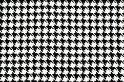 Black and white houndstooth pattern. Royalty Free Stock Image