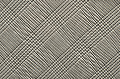 Black and white houndstooth pattern in squares. Stock Photos