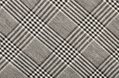 Black and white houndstooth pattern in squares. Royalty Free Stock Photo