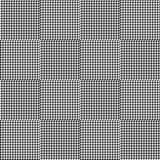 Black and white houndstooth seamless plaid pattern. Alternating hounds tooth check background. Vector illustration Stock Image