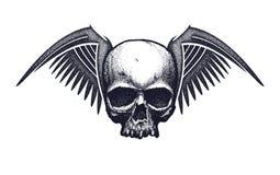 Black and white human skull Royalty Free Stock Photos