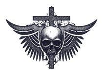 Black and white human skull Royalty Free Stock Photo