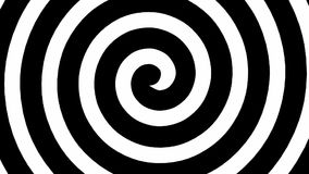 Black and white hypnosis spiral loop stock footage