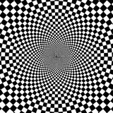 Black and white hypnotic background. Royalty Free Stock Photography