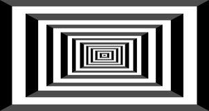 Black and white hypnotic background. Stock Image