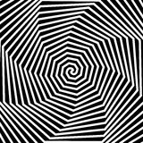 Black and white hypnotic background. Royalty Free Stock Photos
