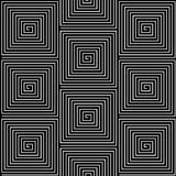 Black and White Hypnotic Background Seamless Royalty Free Stock Images