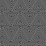 Black and White Hypnotic Background Seamless Royalty Free Stock Photos