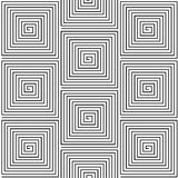 Black and White Hypnotic Background Seamless Stock Image