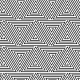 Black and White Hypnotic Background Seamless vector illustration