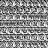 Black and White Hypnotic Background Seamless Royalty Free Stock Image