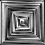 Black and White Hypnotic Background. Vector Royalty Free Stock Photo