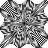 Black and White Hypnotic Background. Vector Stock Photo