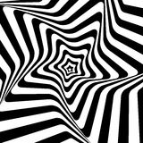 Black and White Hypnotic Background. Vector Royalty Free Stock Images