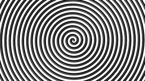 Black and white hypnotic circle. With lines in 3d royalty free illustration