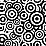 Black and white hypnotic seamless pattern. Background. Vector illustration Royalty Free Stock Image