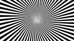 Black and white hypnotic spiral stock video