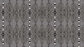 Black And White Hypnotic Textile Animation stock video footage
