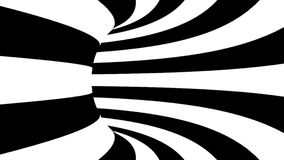 Black and white hypnotic tunnel. 3d rendered.  vector illustration