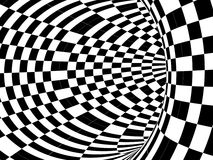 Black and white hypnotic tunnel Stock Photos