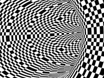 Black and white hypnotic tunnel Royalty Free Stock Photo