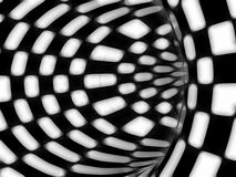 Black and white hypnotic tunnel Royalty Free Stock Image