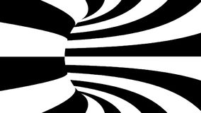 Black and white hypnotic tunnel. Seamless loop.  stock video footage