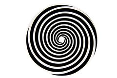 Black and white hypnotic whirlpool Royalty Free Stock Photos