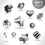 Black white icon set Royalty Free Stock Photo