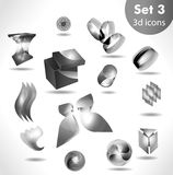 Black white icon set / for wesite, info graphic Stock Photography