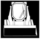 Black and white icon skid steer loader Royalty Free Stock Image