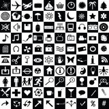 Black and white  icons Stock Image