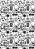 Black and white icons Royalty Free Stock Photography