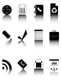 Black and white icons set 3 Stock Photography