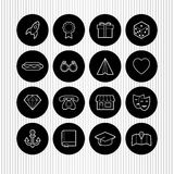 Black and white icons Royalty Free Stock Image