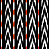 Black and white ikat Seamless Pattern Design for Fabric Stock Image