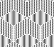 Black and white illusive abstract geometric seamless 3d pattern. Stock Photography