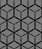 Black and white illusive abstract geometric seamless 3d pattern. Vector stylized infinite backdrop, best for graphic and web design Royalty Free Stock Photo
