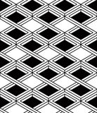 Black and white illusive abstract geometric seamless 3d pattern. Stock Images