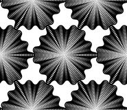 Black and white illusive abstract seamless pattern with geometri Royalty Free Stock Photos