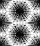 Black and white illusive abstract seamless pattern with geometri Stock Images